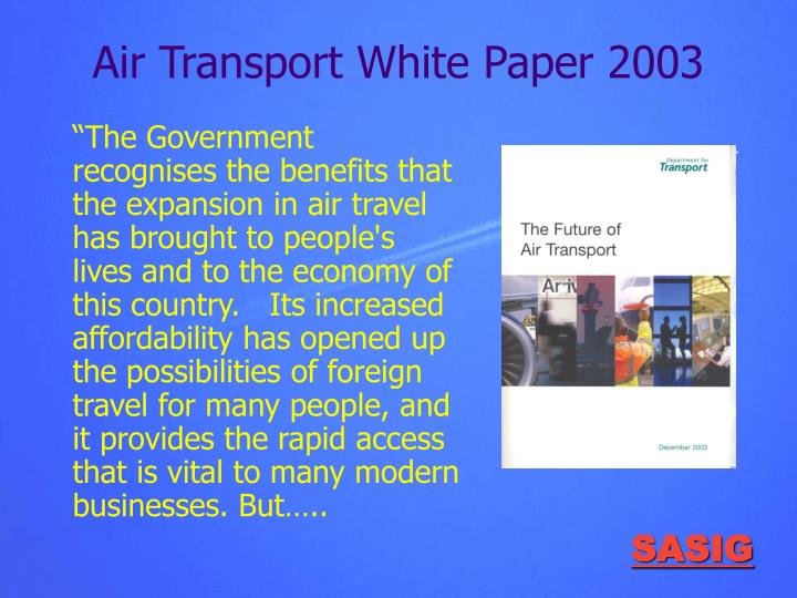Air Transport White Paper 2003