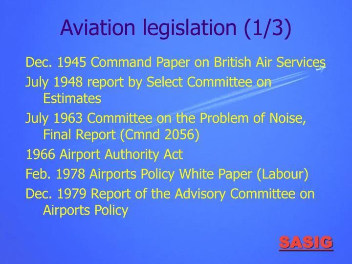 Aviation legislation (1/3)