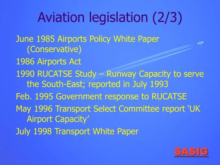 Aviation legislation (2/3)