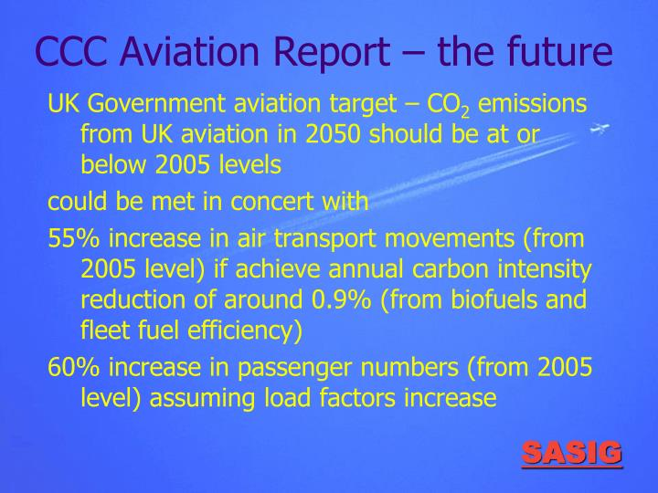 CCC Aviation Report – the future