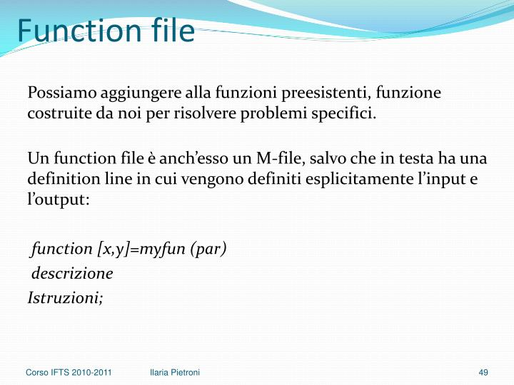 Function file