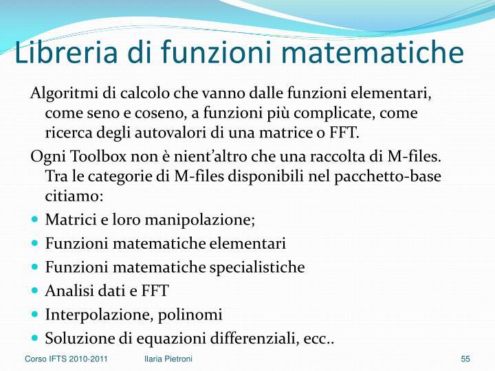 Libreria di funzioni matematiche
