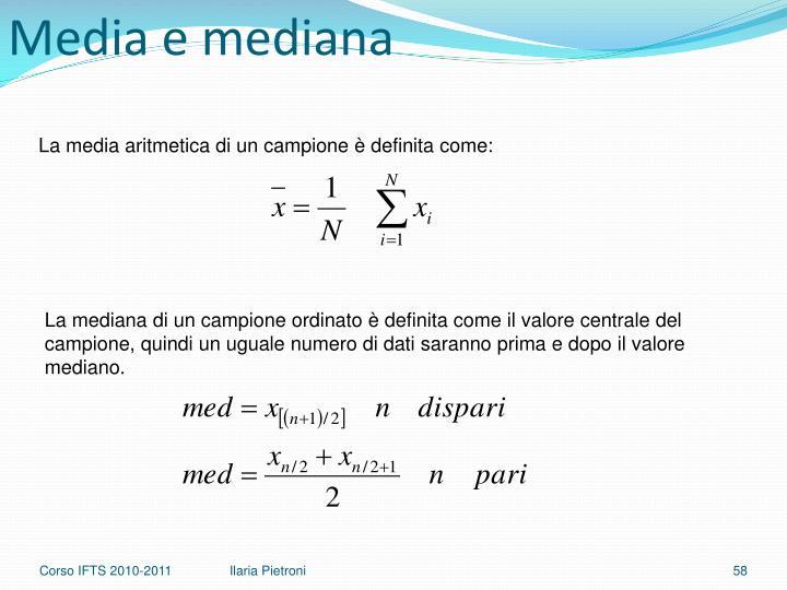 Media e mediana