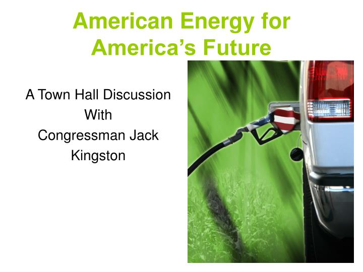 American energy for america s future