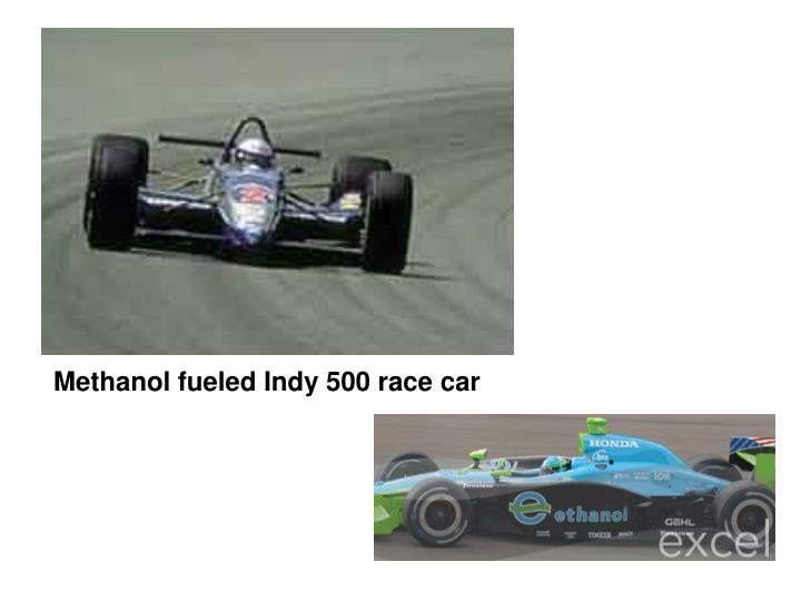 Methanol fueled Indy 500 race car