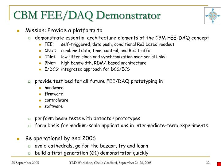 CBM FEE/DAQ Demonstrator