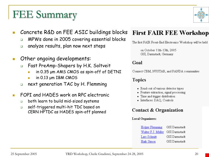 FEE Summary