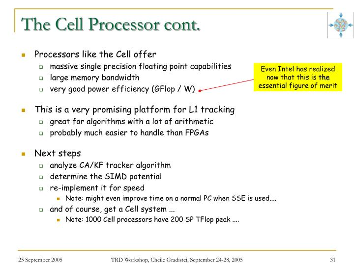 The Cell Processor cont.
