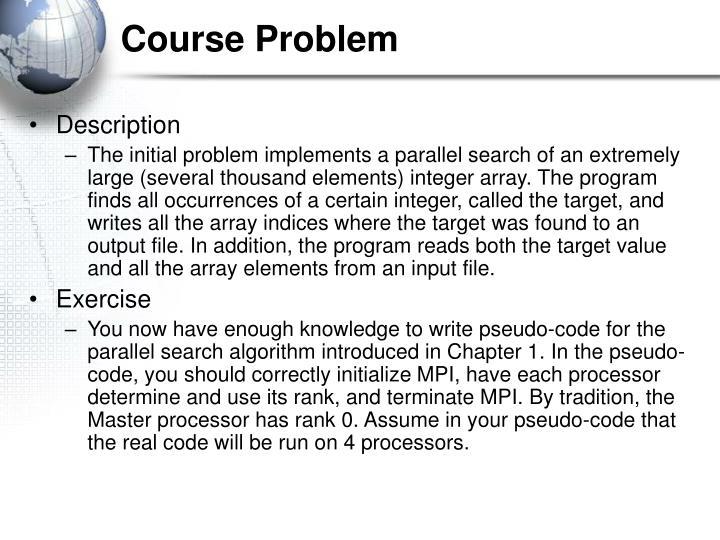 Course Problem