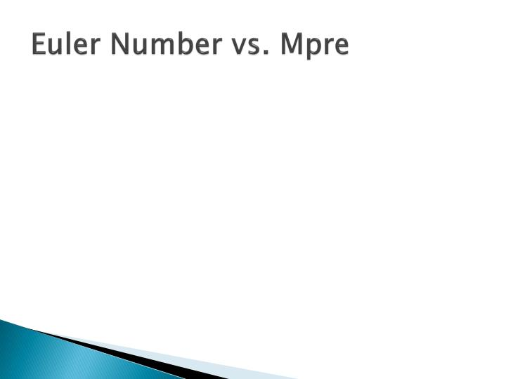 Euler Number vs.