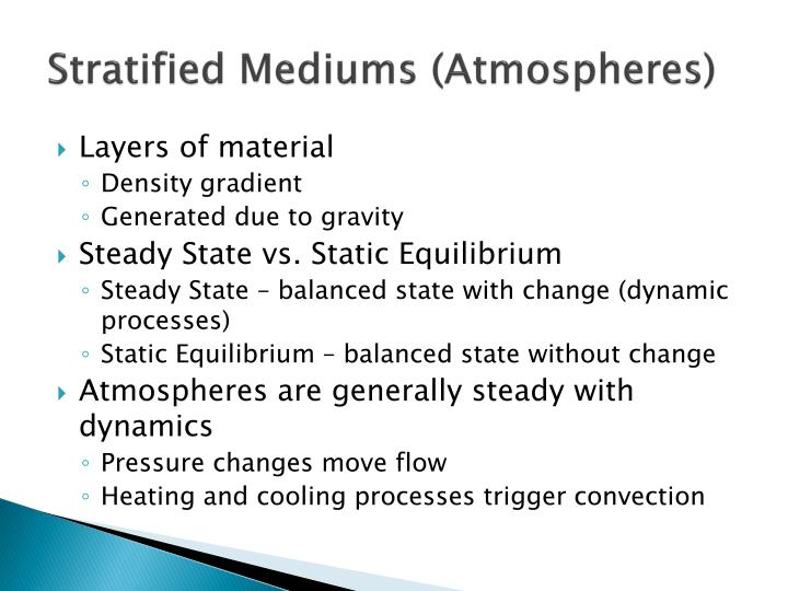 Stratified Mediums (Atmospheres)