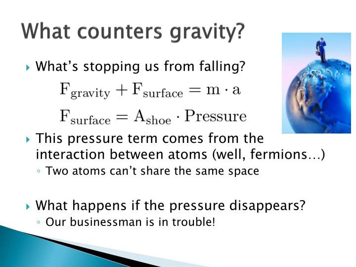 What counters gravity?