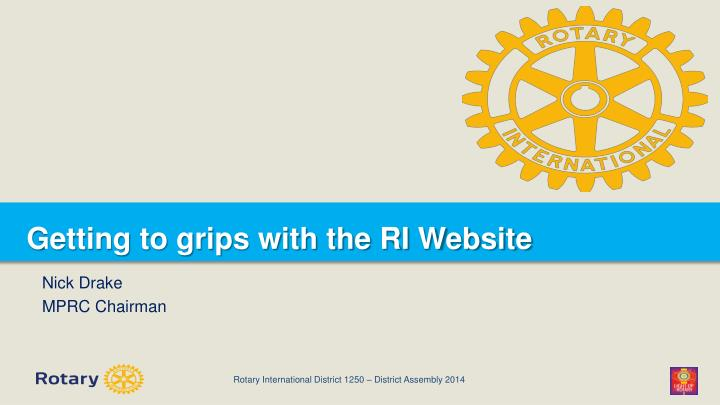 Getting to grips with the ri website