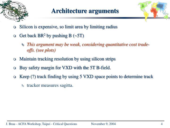 Architecture arguments