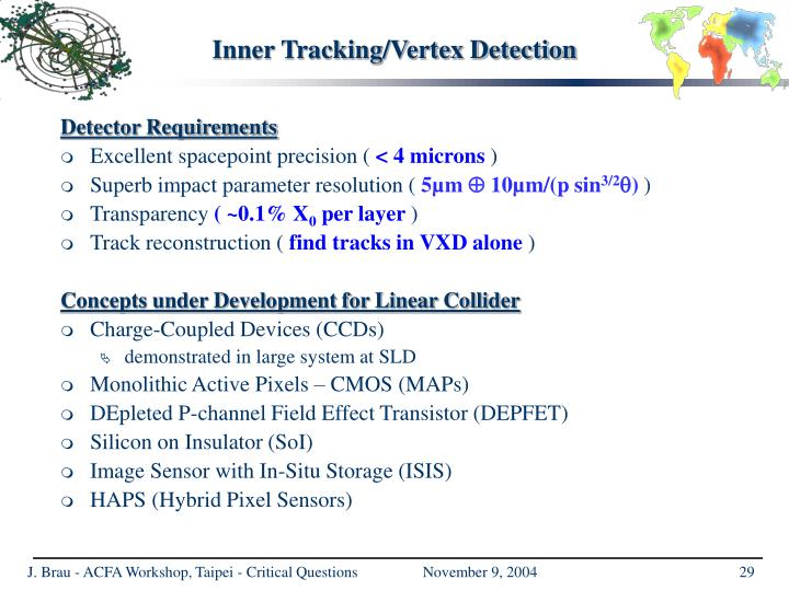 Inner Tracking/Vertex Detection