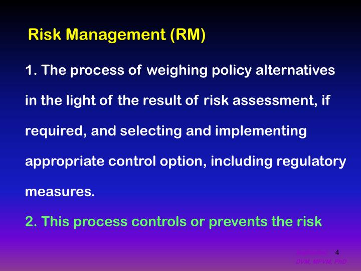 Risk Management (RM)