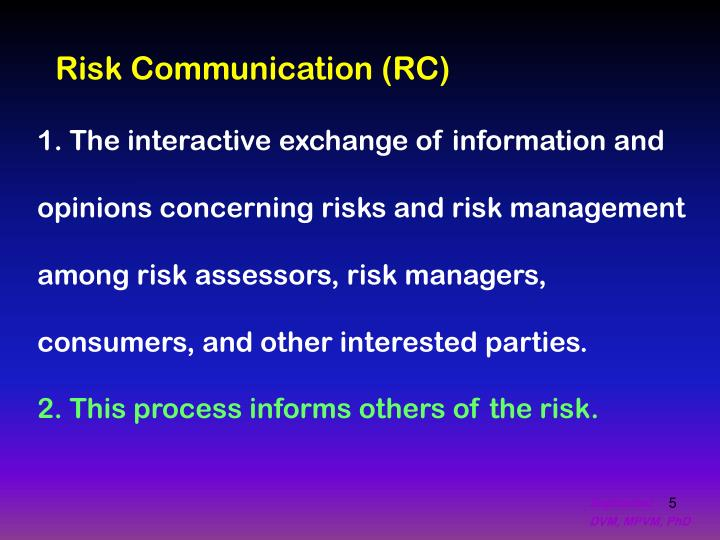 Risk Communication (RC)