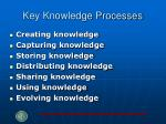 key knowledge processes
