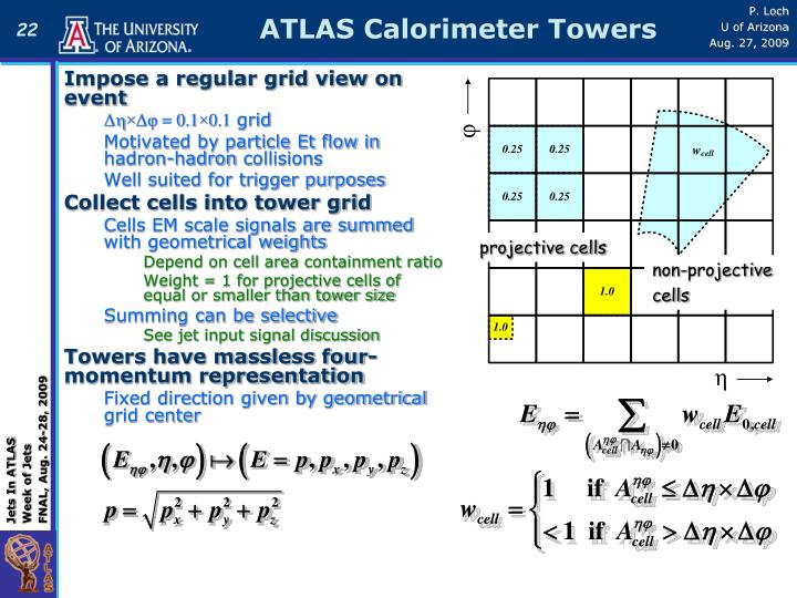 ATLAS Calorimeter Towers