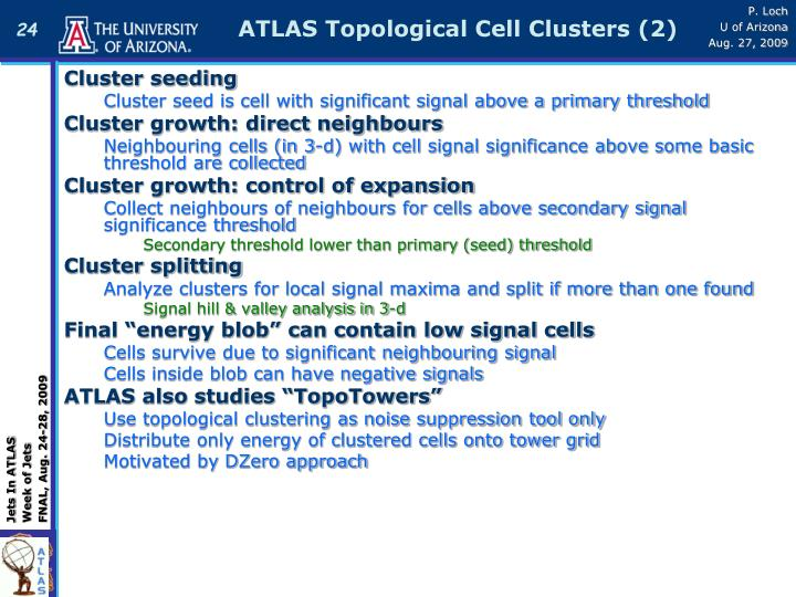 ATLAS Topological Cell Clusters (2)
