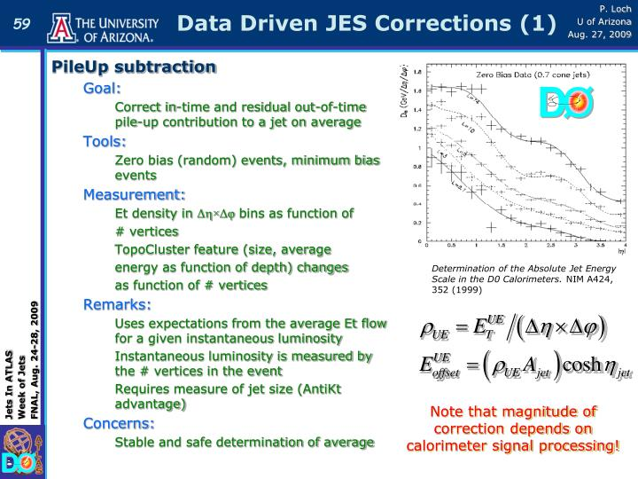 Data Driven JES Corrections (1)