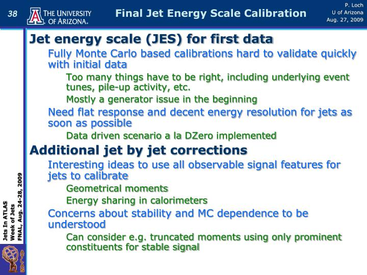 Final Jet Energy Scale Calibration