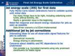 final jet energy scale calibration