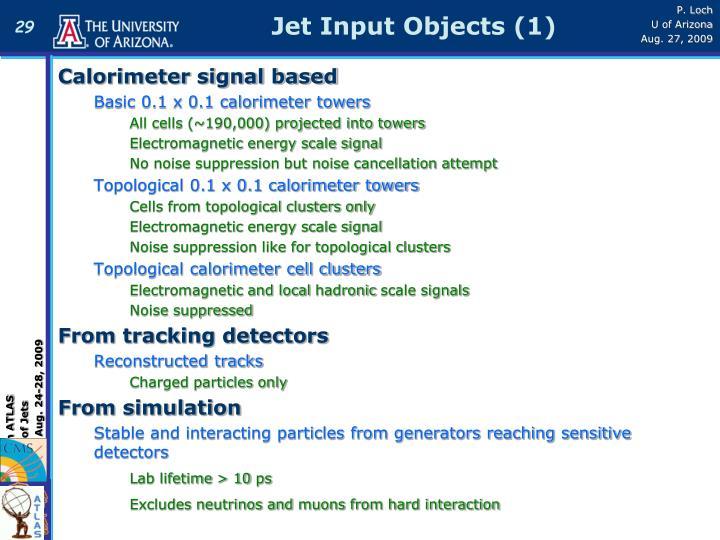Calorimeter signal based