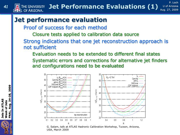 Jet Performance Evaluations (1)