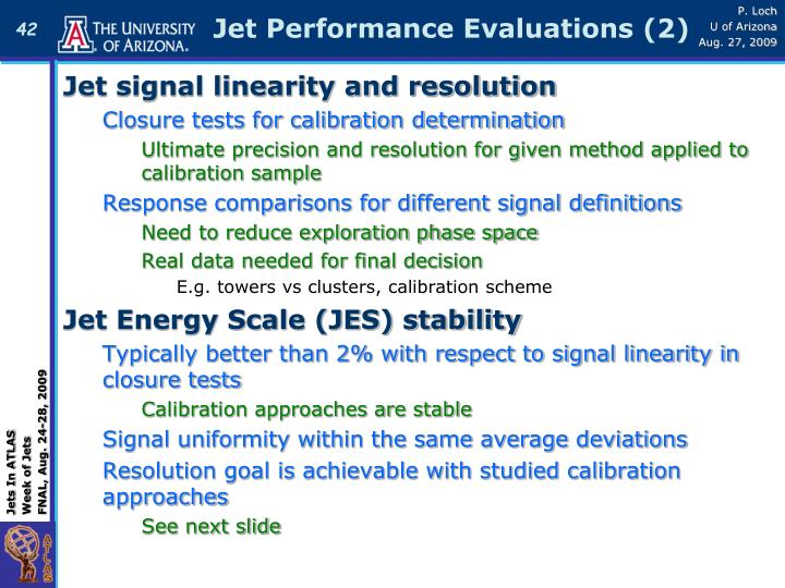 Jet Performance Evaluations (2)