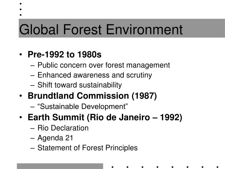 Global forest environment