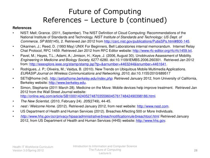 Future of Computing