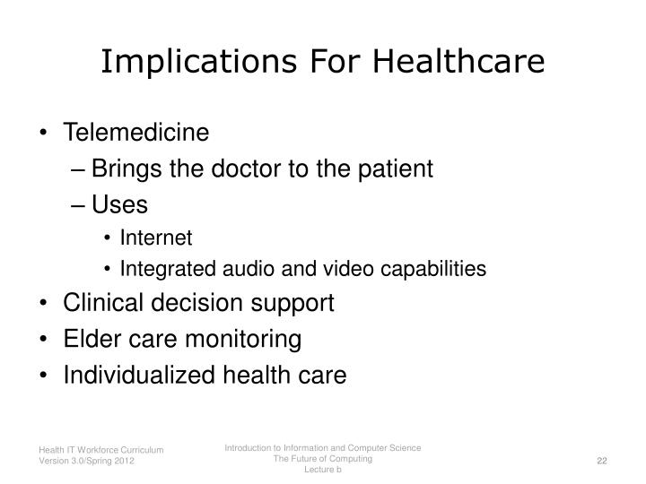 Implications For Healthcare