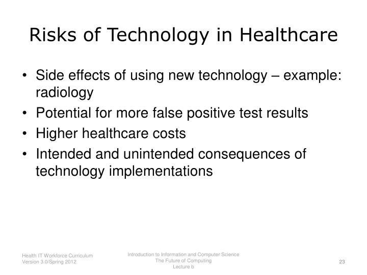 Risks of Technology in Healthcare
