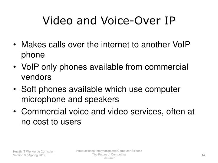 Video and Voice-Over IP
