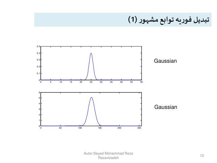 تبدیل فوریه توابع مشهور (1)