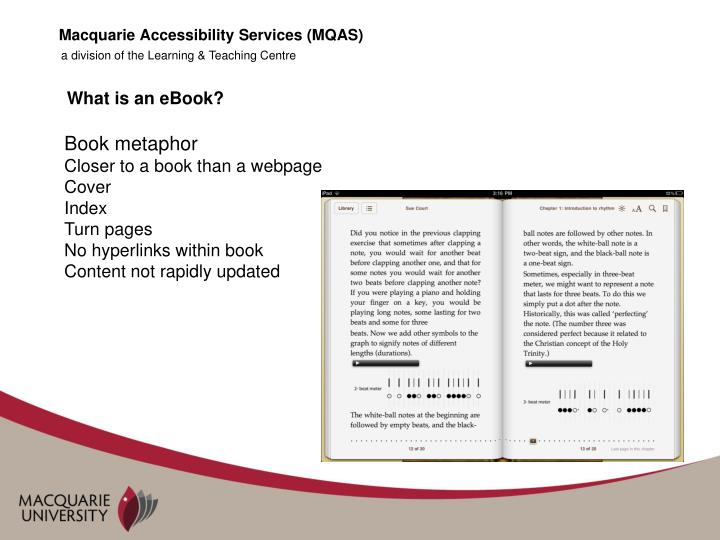 Macquarie Accessibility Services (MQAS)
