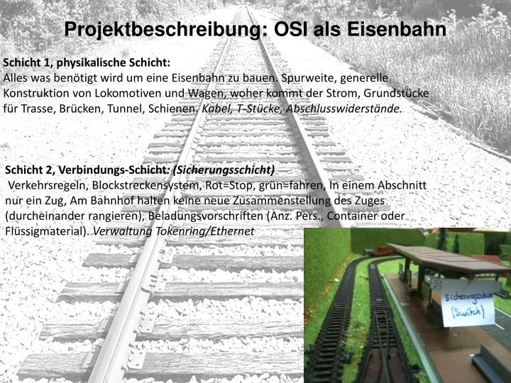 Projektbeschreibung: OSI als Eisenbahn