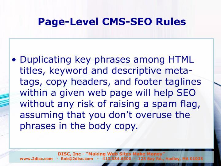 "DISC, Inc - ""Making Web Sites Make Money"""