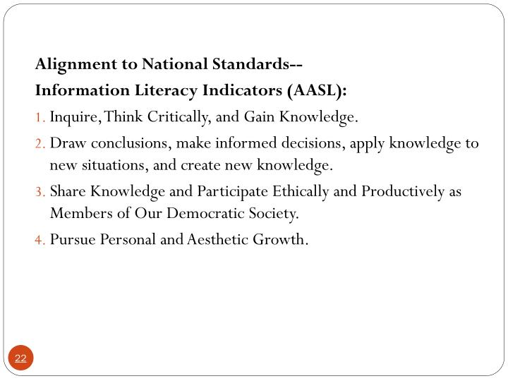 Alignment to National Standards--