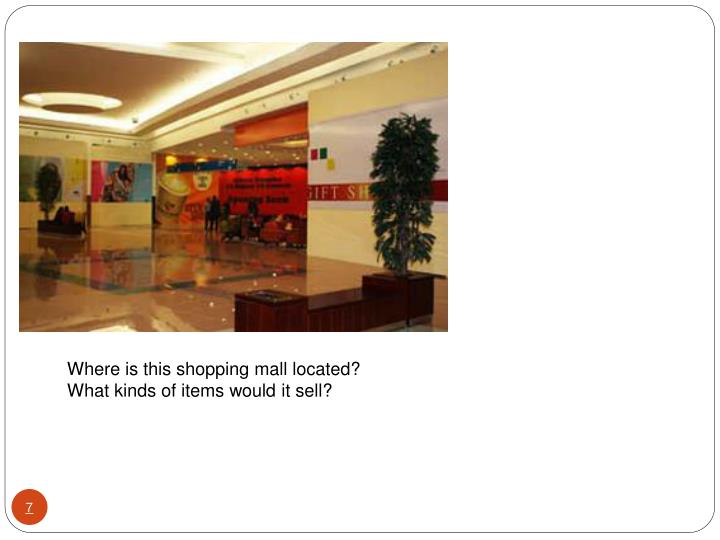 Where is this shopping mall located?