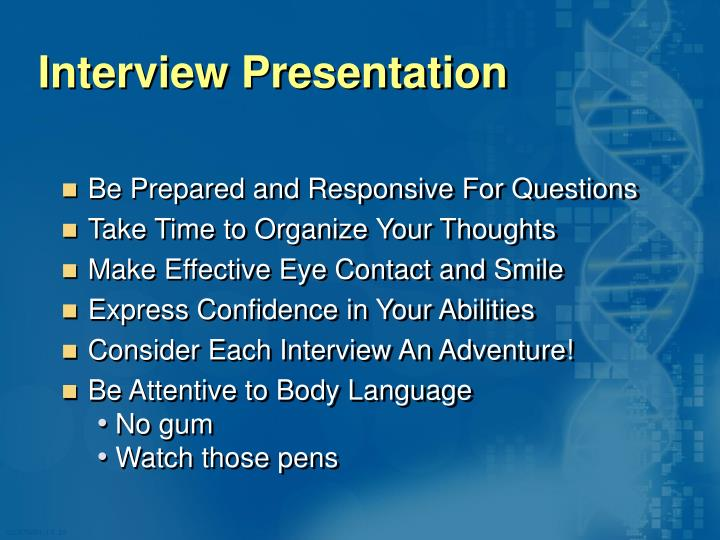 Interview Presentation
