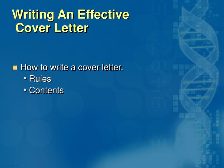 Writing An Effective