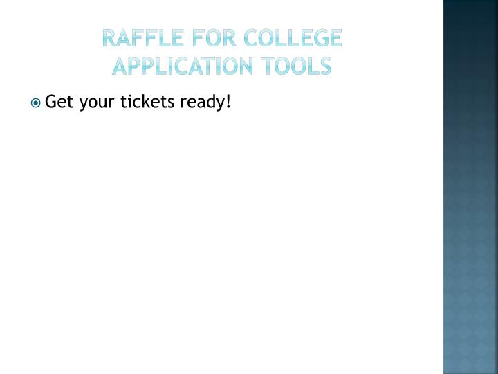 Raffle for College Application Tools