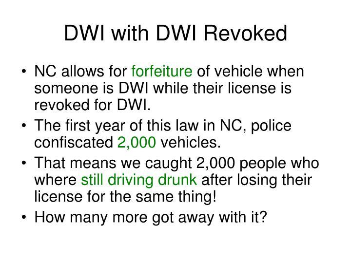 DWI with DWI Revoked