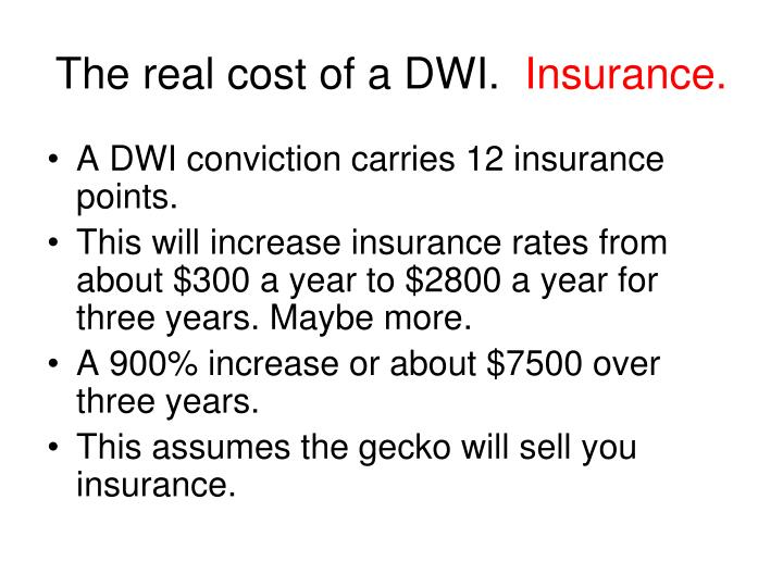 The real cost of a DWI.