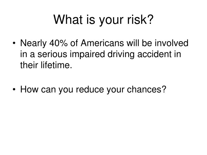 What is your risk?