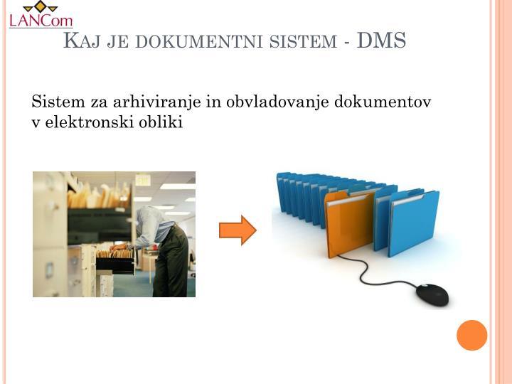Kaj je dokumentni sistem - DMS