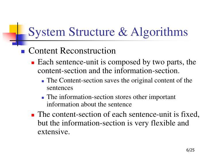 System Structure & Algorithms