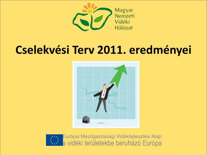 Cselekvési Terv 2011. eredményei